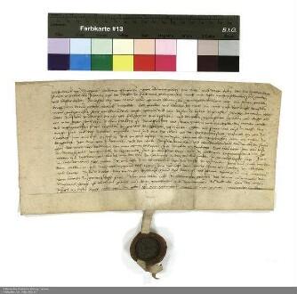 Revers Friedrichs von Maßbach bezüglich der Belehnung mit einem Gut in Untersotzbach und weiteren im Einzelnen aufgeführten Lehen durch Johann [I. von Henneberg], Abt von Fulda