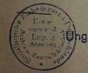 Stempel / SED/ Kreisvorstand Leipzig/ Abteilung Archiv und Zentralbibliothek