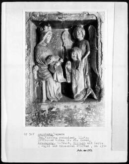 Der Verstorbene wird von einem Engel der Muttergottes vorgestellt