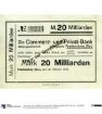 Commerz- und Privat-Bank Frankenberg: 20 Milliarden Mark 1923