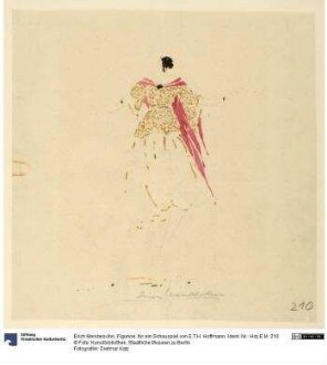 Figurine, für ein Schauspiel von E.T.H. Hoffmann