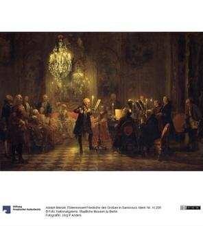 Flötenkonzert Friedrichs des Großen in Sanssouci