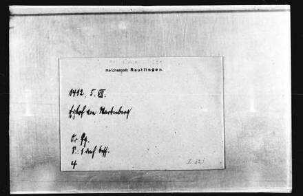 Eglof von Wartenberg genannt von Wildenstein, Hofrichter zu Rottweil ...