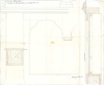 Fischer, Theodor; Garnisonkirche (Pauluskirche) - Orgel - Bogengestaltung (Schnitt, Detail)