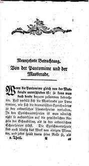 Betrachtungen über die Sittlichkeit der Vergnügungen : in zween Theilen. 2