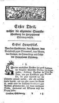 Johann Friderich Hansens ... vollständigere Staatsbeschreibung des Herzogthums Schleswig