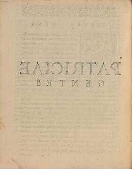 De gentib[us] et familiis Romanorum