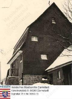 Brandau im Odenwald, Forsthaus - Bild 1 bis 5: Außenaufnahmen im Winter