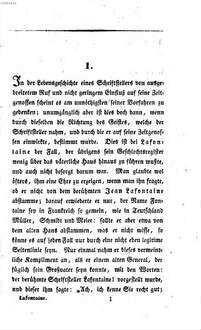 August Lafontaines Leben und Wirken : Mit Lafontaine's Bildniß