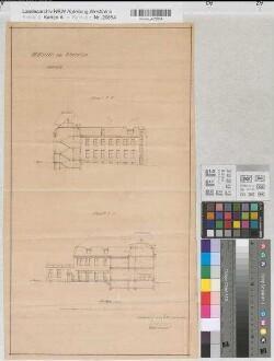 Schwelm (Schwelm) - Posthaus - Schnitte - 1910 - 1 : 200 - 56 x 30,5 - Pause - Buddeberg, Postbaurat - Oberpostdirektion Dortmund Nr. 1699