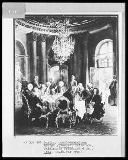 König Friedrichs II. Tafelrunde in Sanssouci 1750