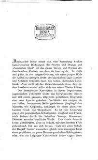 Lenz und Klinger : zwei Dichter der Geniezeit