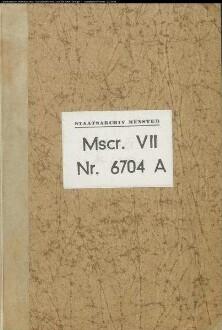 Kopiar des Klosters Flechtdorf, notariell beglaubigt