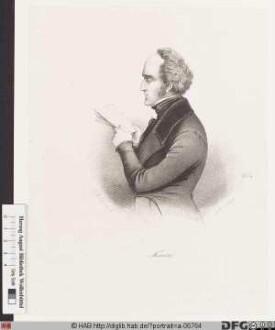 Bildnis (François-Marie) Charles Fourier
