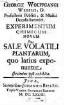Experimentum chimicum novum de Sale volatili Plantarum
