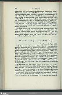 Caroline de La Motte Fouqué an August Wilhelm von Schlegel, Nennhausen, 11.04.1806