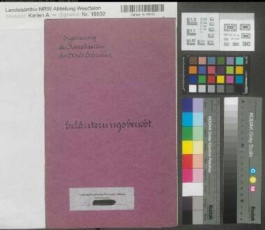 Schwelm (Schwelm) - Ergänzung der Kanalisation - Erläuterungsbericht - 1908 - Stadtbaumeister Bussmann - Regierung Arnsberg
