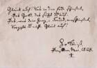 Eintragung Kleists in das Stammbuch von Theodor Körner