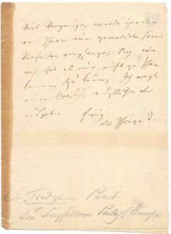 Brief von Christoph August Tiedge