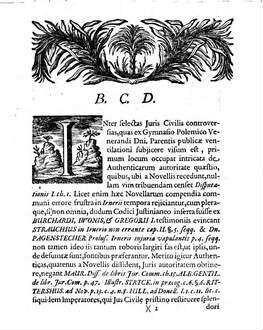 Illustris ICtorum ordinis consensu ad examen publicum controversiarum juris civilis gymnasii polemici Menckeniani ... : [praefatus de Autenticarum auctoritate]