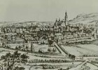 Annaberg: Ausschnitt aus der Stadtansicht