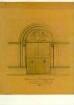 Zeichnung eines dreibahnigen spitzbogigen Maßwerkchorfensters                                [Mariä-Himmelfahrt-Kirche Rouffach]