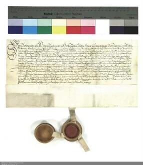 Lehenbrief Wilhelms [V.], Landgraf von Hessen [Hessen-Kassel], für Kaspar Adolf von der Tann über Güter in Neuswarts