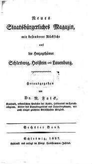 Neues staatsbürgerliches Magazin mit besonderer Rücksicht auf die Herzogthümer Schleswig, Holstein und Lauenburg. 6, 6. 1837