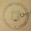 Zentralbibliothek der Gewerkschaften / Stempel