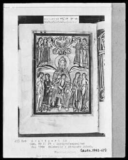 Psalterium (sogenannter Landgrafenpsalter) — Totenreich mit Abrahams Schoß, Folio 176verso