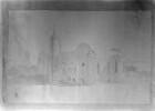 Zeichnung der Bischofsburg in Hapsal