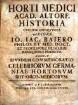 Horti medici Academiae Altdorfens. historia