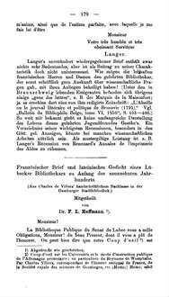 Französischer Brief Und Lateinisches Gedicht Eines Lübecker