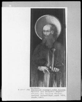 rechter Außenflügel: hl. Paulus