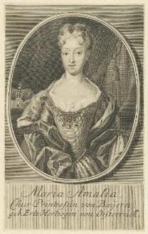 Bildnis der Maria Amalia, Chur-Printzessin von Bayern