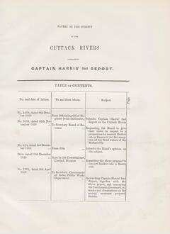 Papers on the subject of the Cuttack rivers containing Captain Harris' 2nd report