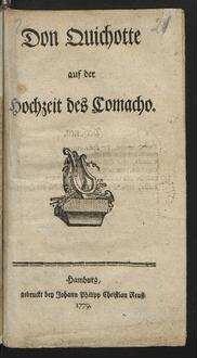 Don Quichotte auf der Hochzeit des Comacho.