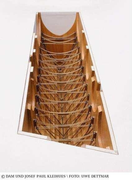 Museum Fur Vor Und Fruhgeschichte Modell Der Dachstuhlkonstruktion