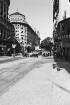 Reisefotos Argentinien. Stadtbilder Buenos Aires. Straße mit Kopfbau