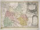 Karte vom Fürstentum Liegnitz, 1:100 000, Kupferstich, 1736