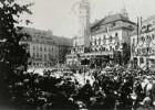 Bautzen. Huldigung für Friedrich August III., König von Sachsen, auf dem Hauptmarkt