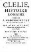 Clélie : histoire romaine. [1], 1. Partie