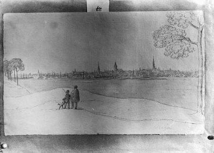 Ansicht von Riga von Nordwesten