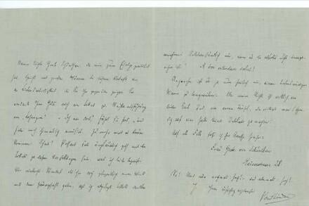 Brief von Paul Lindau