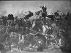 """""""Vaterländische Geschichtsgalerie"""": Schlacht bei Brienne, als Hauptsieg der Bayern gegen Frankreich, im Jahre 1814"""
