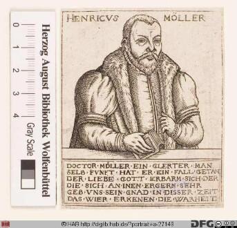 Bildnis Heinrich Möller (lat. Mollerus)