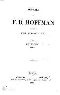 Oeuvres : précédées d'une notice sur sa vie. 10. Critique. Tom. 7. - 1834