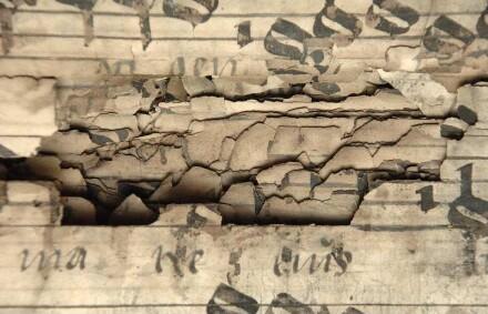 Schadensbild: durchgebrochener Tintenfraß