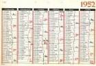 Jahreskalender 1952 der Marke Brunnen