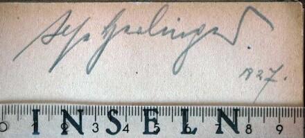 Weber, Ilse / Autogramm